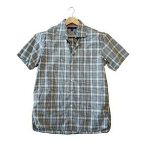 Tommy Hilfiger Mens Plaid Button Down Shirt Preppy 90s Y2K Business Work Casual
